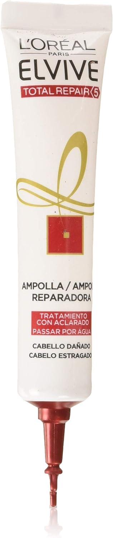 L'Oreal Paris Elvive Total Repair 5 Ampolla Reparadora para El Pelo Dañado - 18 ml, Paquete de 6