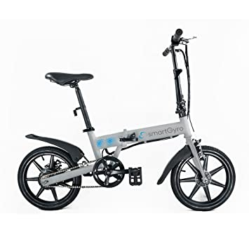 Bicicleta elctrica plegable e bike white smartgyro