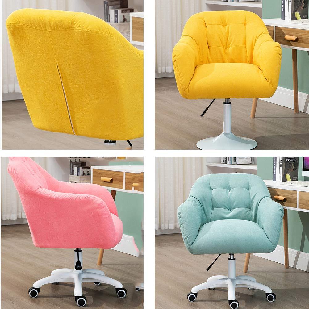WANGYUJIE dator kontorsstol enkel mjuk hem soffa fritid enkel lyftstol för student sovrum sovsal BLÅ gUL