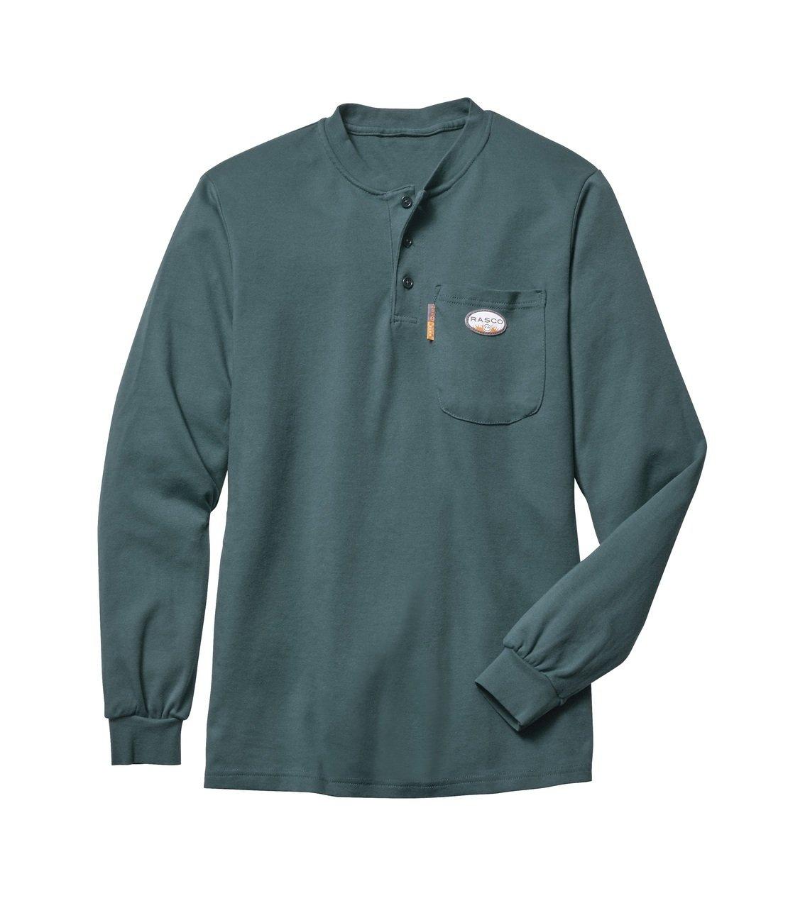Rasco GRF460 Men's L/S HUNTER GREEN FR T-Shirt Hunter Green Small