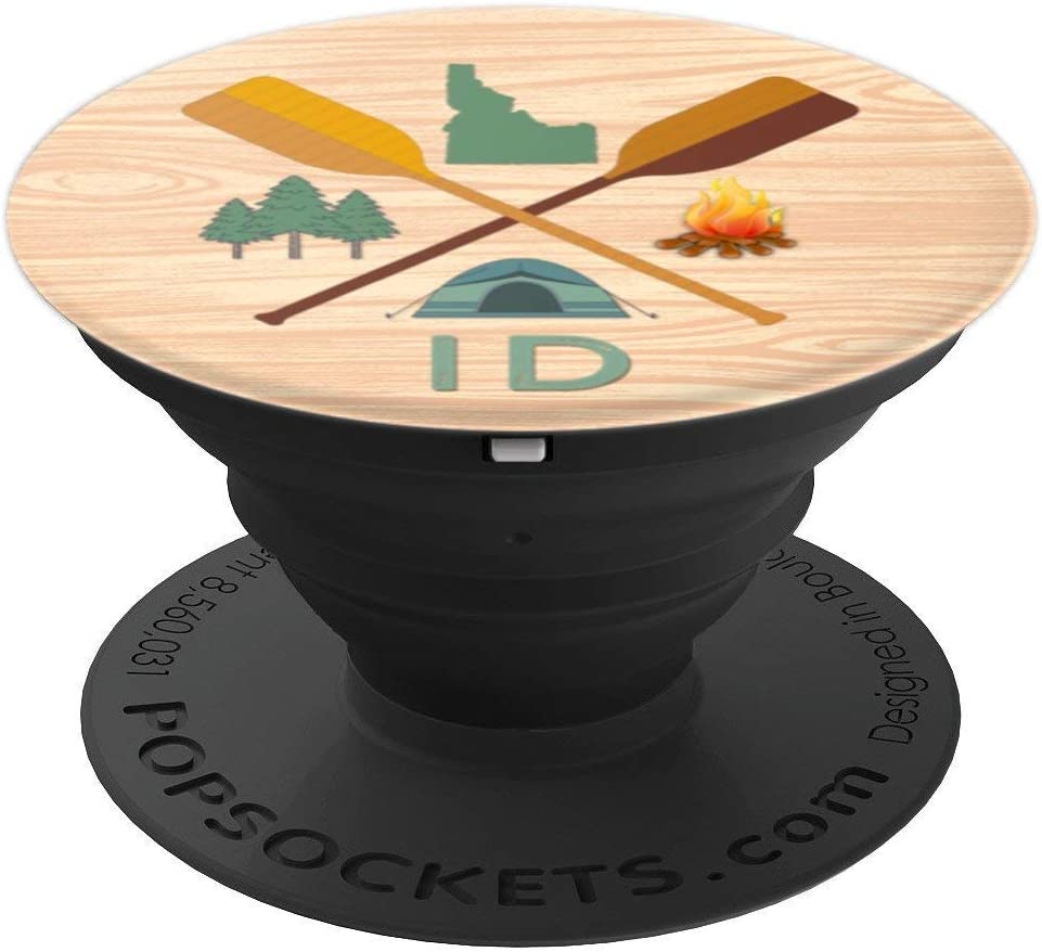 Idaho Wood Grain Camping, Canoeing, and Hiking, Nature PopSockets Grip and Stand for Phones and Tablets