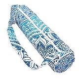 ganesham–indio de algodón hecho a mano Mandala Ombre para alfombrilla de yoga (algodón bolsa con correa para el hombro