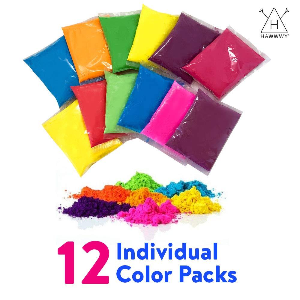 Amazon.com: Hawwwy Colored Powder for Color Run (12) 70 ...