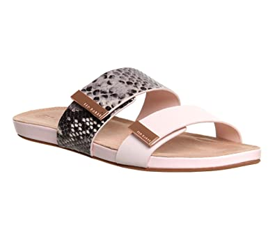2a5123380043 Ted Baker Reisling Sandal Nude Black Exotic Leather - 7 UK  Amazon ...