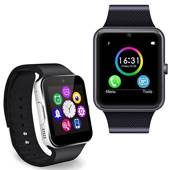 299b7789969d Minkoo SmartWatch GT08 Bluetooth Reloj Inteligente para Android IOS Phone  Wechat Rojo  Amazon.com.mx  Electrónicos