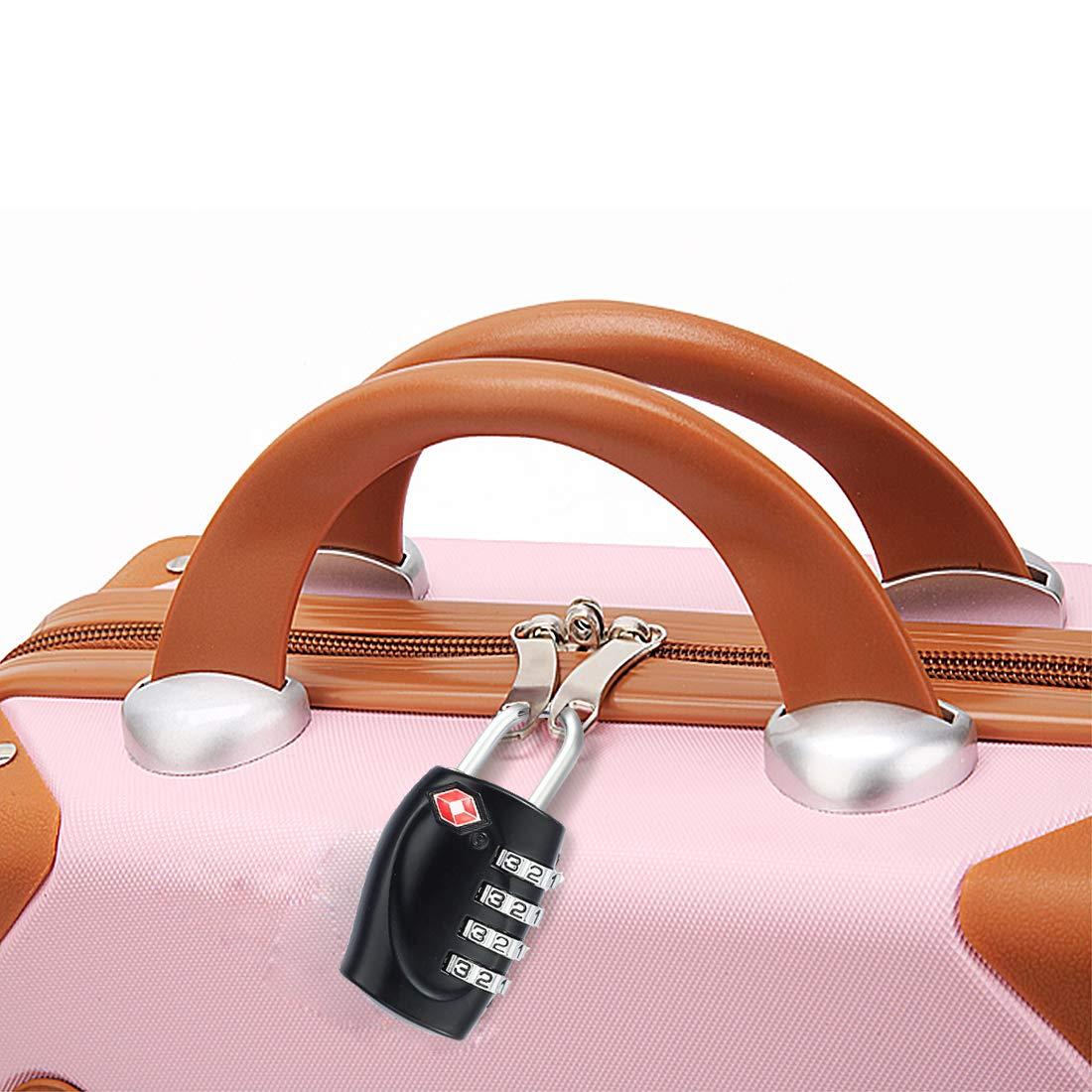 iMucci IZ0170 Cadenas Multicolore 2 Black Luggage Locks 2 Luggage Tags