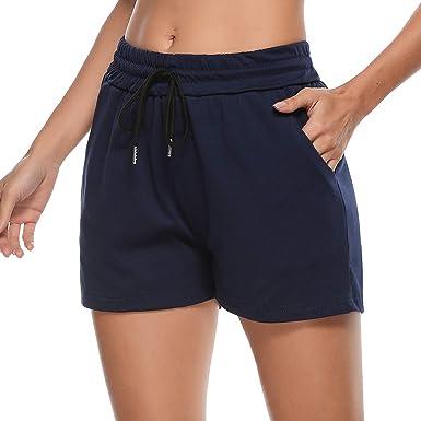 Sykooria Pantalones Cortos Deportivos para Mujer Pantalones Cortos de Pijama Activos Pantalones Cortos de Pijama de algodón Pantalones Cortos de Yoga elásticos Casuales Pantalones: Amazon.es: Ropa y accesorios