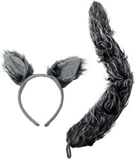 J24630 Wolf Ears u0026 Tail Set Gray One Size  sc 1 st  Amazon.com & Amazon.com: Pig Ears Nose and Tail Set - Costume Accessories: Toys ...