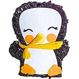 TIME FOR FIESTA MY-PIÑATA PIÑATAS & MORE Pinguin Pinata zum Befüllen mit Süßigkeiten (groß) | Pinata Einschulung | perfekt als Geburtstags-Spiel, für den Kinder-Geburtstag