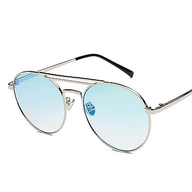 Amazon.com: Gafas de sol de metal macho y hembra espejo 3601 ...