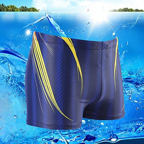 ZQ@QXL'Europe et les États-Unis men's fashion boxer XL maillot de bain,XXL,Bleu 1