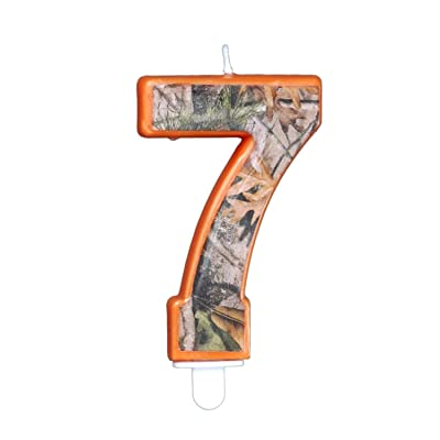 "Havercamp Camo Birthday 3 Inch Number ""7"" Seven Candle, Next Camo Party Collection: Home & Kitchen"