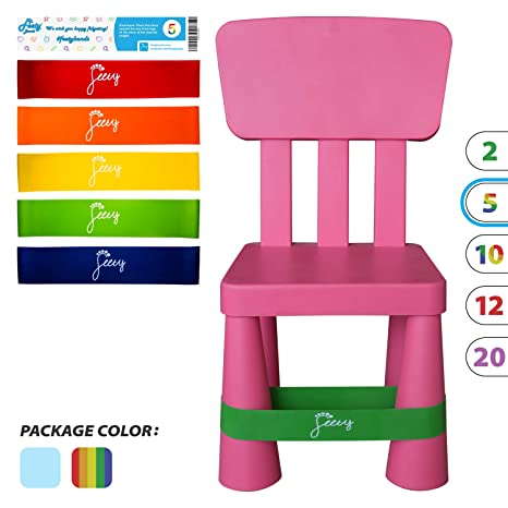 Magnificent Feety Chair Bands For Kids 5 Pack Adhd Bouncy Kick Fidget For Elementary Middle High School Students And Fidgety Adults For Classroom Chairs And Inzonedesignstudio Interior Chair Design Inzonedesignstudiocom