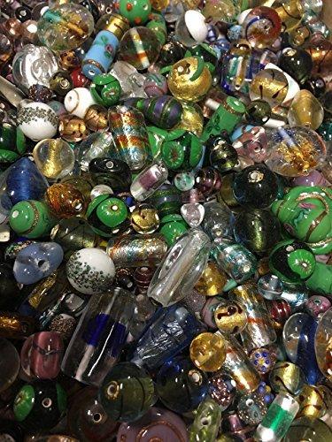 Modebeads ,lampwork Czech, Murano,Venetian lampbeads,bigest ever mix 1/4 lbs
