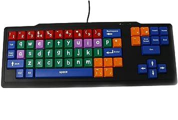 Teclado de Aprendizaje para Niños USB / Teclas Grandes Multicolores en Minúsculas / Preescolar Clave Etapa