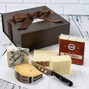 igourmet's Favorite 4 Gourmet Cheese Sampler in Gift Box - This Four-Cheese Sampler was created with everyone's taste palate in mind.