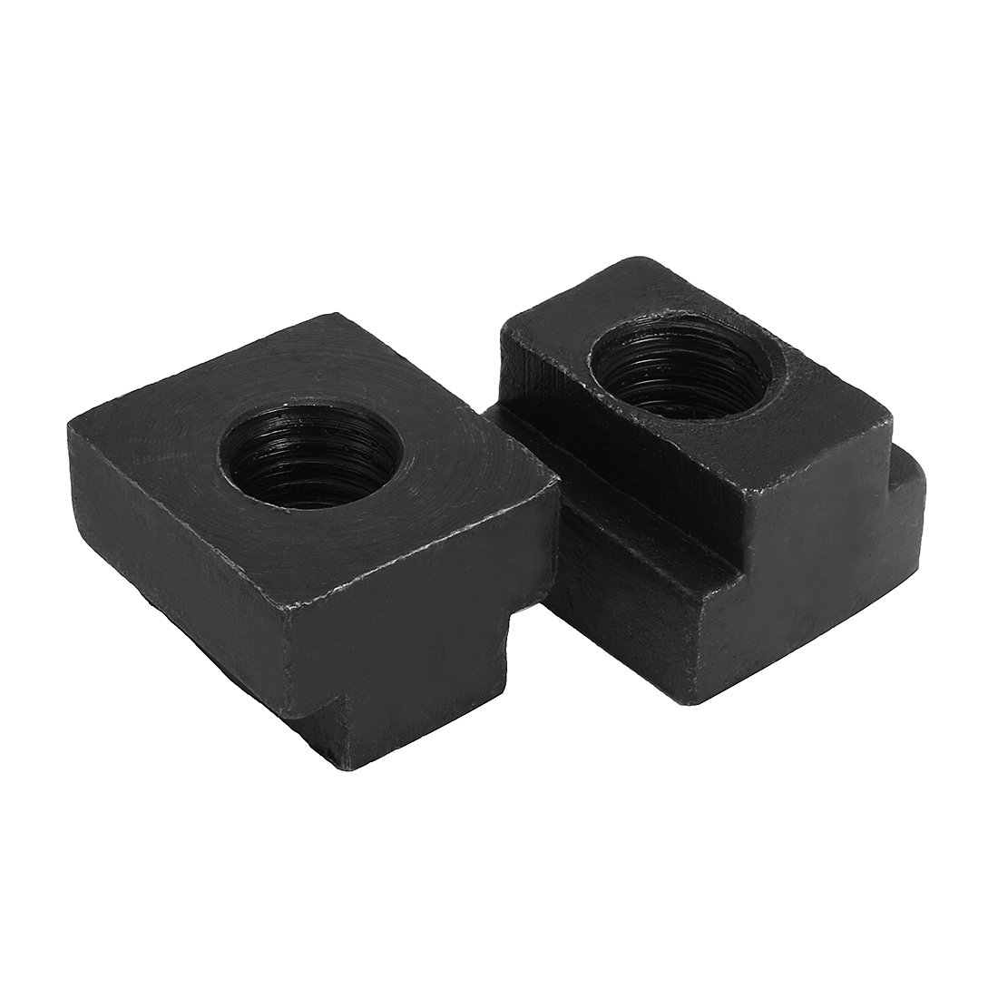 Aexit M18 Steel Nuts T-Slot Nut Black Oxide Plated Grade 8.8 Tapped T-Slot Nuts Through 2pcs by Aexit