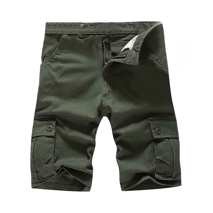 040278845f983b CLOOM Pantaloni Uomo Estivi, Calzoncini Corti Uomo Bermuda Cotone Estivi  Savage Vintage Shorts Pantaloncini Vintage con Tasconi Laterali Pantaloncini  Casual ...