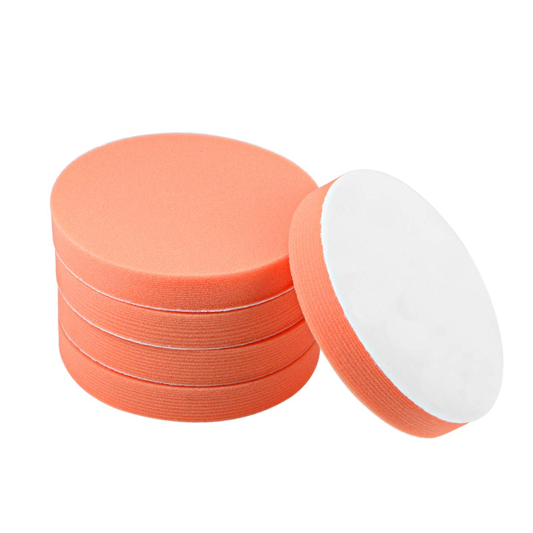 uxcell 3 Foam Drill Polishing Pad Kit Sponge Pads for Waxing Sealing Glaze 5pcs