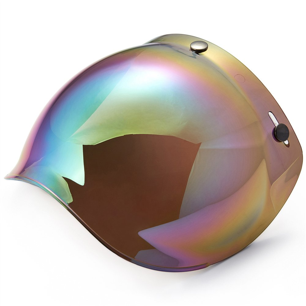 ILM Motorcycle Helmet Bubble Shield with Removable Flip Adapter (Colorful)