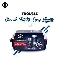 NIVEA Men Trousse PSG avec Eau de Toilette Série limitée PARIS SAINT-GERMAIN 100ml + Gel douche 3en1 250ml + Crème Hydratante NIVEA MEN CREME 150ml