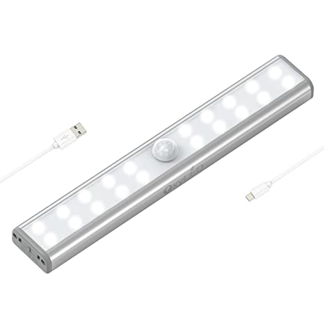 Wardrobe Light, OxyLED Motion Sensor Closet Lights, 20 LED Under Cabinet  Lightening,