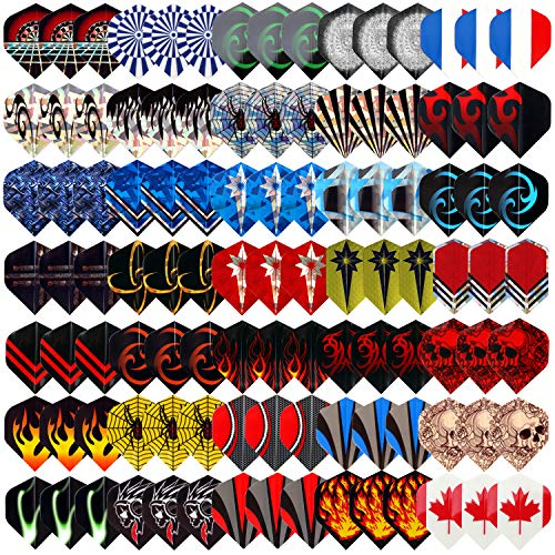 L.E.D STEP 35 Sets (105 pcs) Dart Flights Darts Accessory Feather Tail Wing Flight National Flag Cool Styles 2D and 3D Bling Long Life Laser Darts Flights