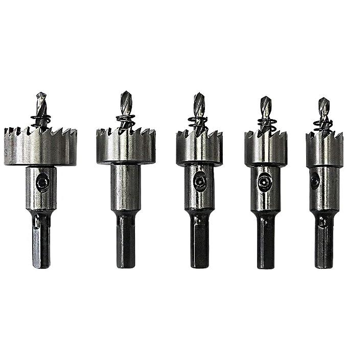 8 opinioni per S&R Seghe a tazza Metallo HSS per Acciaio Cobalto / Set di 5 frese