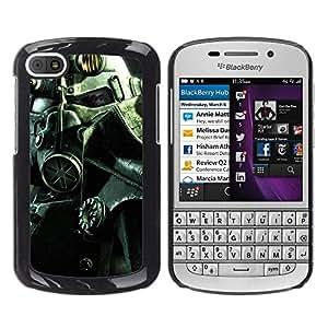 GIFT CHOICE / SmartPhone Carcasa Teléfono móvil Funda de protección Duro Caso Case para BlackBerry Q10 /Fall Out Soldier Helmet/