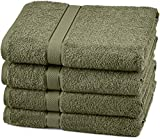 Pinzon Blended Egyptian Cotton 4 Bath Towel Set, Moss
