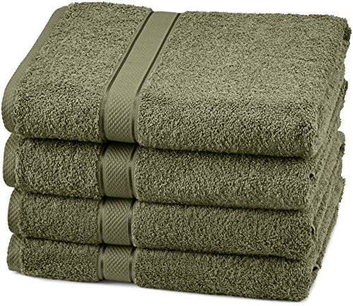 - Pinzon Egyptian Cotton Bath Towel Set (4 Pack) - Moss