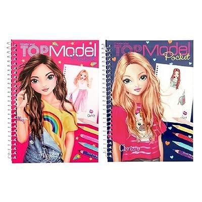 2 x Depesche 3D Top Model Libros de Bolsillo Diseño y Color: Juguetes y juegos