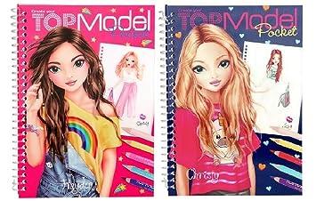 2 X Depesche 3d Top Model Livre De Poche