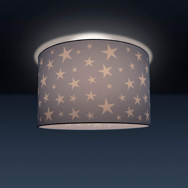 /Ø38 cm Paralume:/Rosa Lampada da bambini lampada da soffitto LED lampada a sospensione camera dei bambini motivo con cielo stellato E27 Tipo di lampada:/Lampadario da soffitto nero
