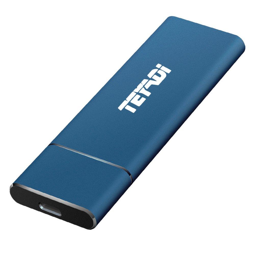 TEYADI External SSD 256GB, Portable Solid State Drive, USB 3.1 Gen 2, M.2 SSD, Superfast Read/Write Speeds, External Storage For Latop, Desktop, Macbook, Tablet, Android Phones