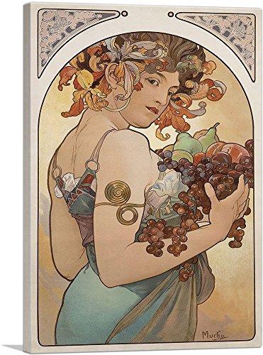 ARTCANVAS Fruit 1897 Canvas Art Print by Alphonse Mucha- 12
