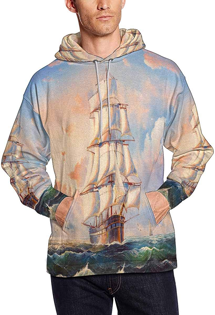 INTERESTPRINT Mens Athletic Sweaters Fashion Hoodies Sweatshirts