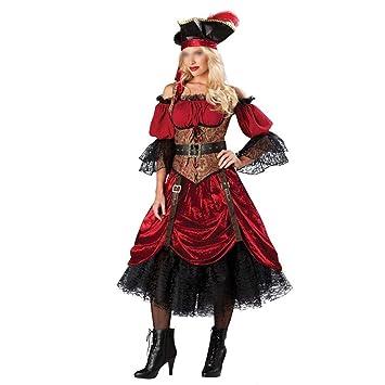 ZSRHH-Falda Vestido de Mujer Uniformes Piratas del Juego Traje de ...