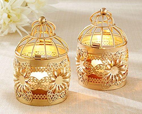 25 Gold Floral Lanterns