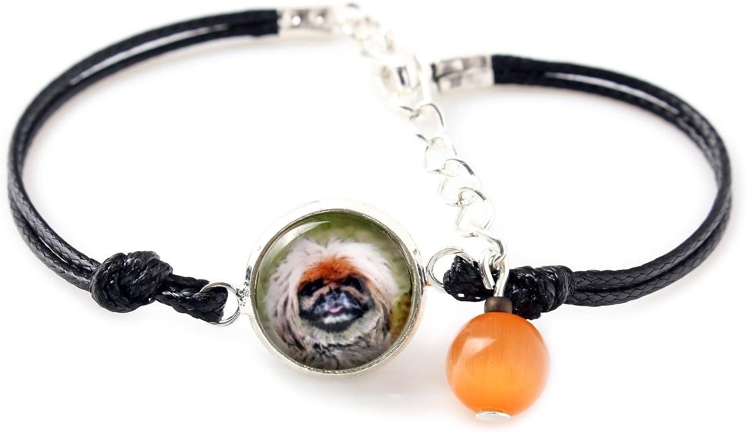 Pekingese Handmade Photo Jewelry Set of Earrings a Bracelet and Necklace with Box Art Dog Ltd