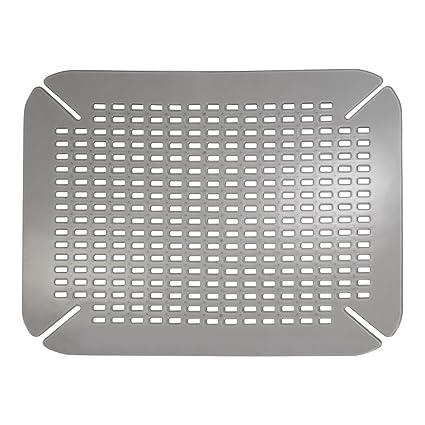 Astounding Idesign Kitchen Sink Mat Large Sink Protector Mat Made Out Of Durable Plastic Practical Drainer Mat For Kitchen Sink Light Grey Interior Design Ideas Skatsoteloinfo