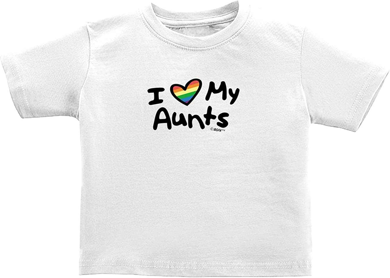 Custom Toddler T-Shirt Both of Them are My Real Moms Gay LGBTQ Cotton