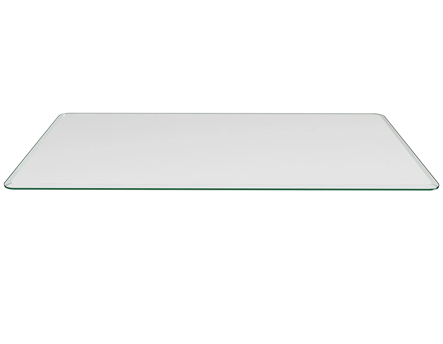 Milan 16 x 52 Rectangle Glass Top, 3 8 Thick with 1 Bevel Edge