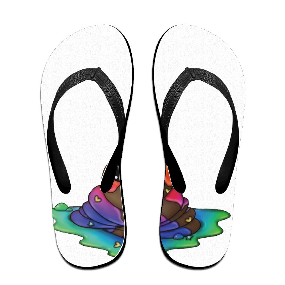 3628760b6799 outlet Colorful Icecream Unicorn Poop Flip Flops For Men Women Boys  Girls