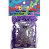 Rainbow Loom Official purple 600pc Refill Bands w/ C Clips