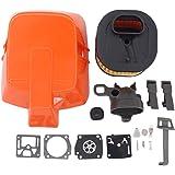 ApplianPar Air Filter Cover Carburetor Carb Kit 503 81 77-01 for 362 365 371 372 372XP Husqvarna Chainsaws