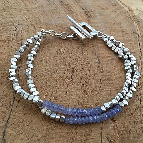 Sapphire Bracelet | Karen Hill Tribe Silver | Two Strands | One Of A Kind