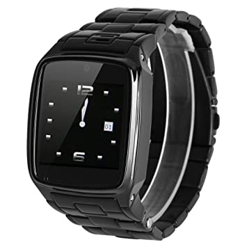 Excelvan PW1-S Reloj de Pulsera Smartwatch (Radio Fm, 2G Sim, Bluetooth, Música, Anti-perdida, Control Remoto, Cámara 0.3Mp, Para IOS y Andriod ...