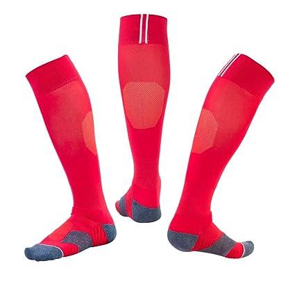 WADUANRUN Calcetines de compresión/Calcetines de fútbol para ...
