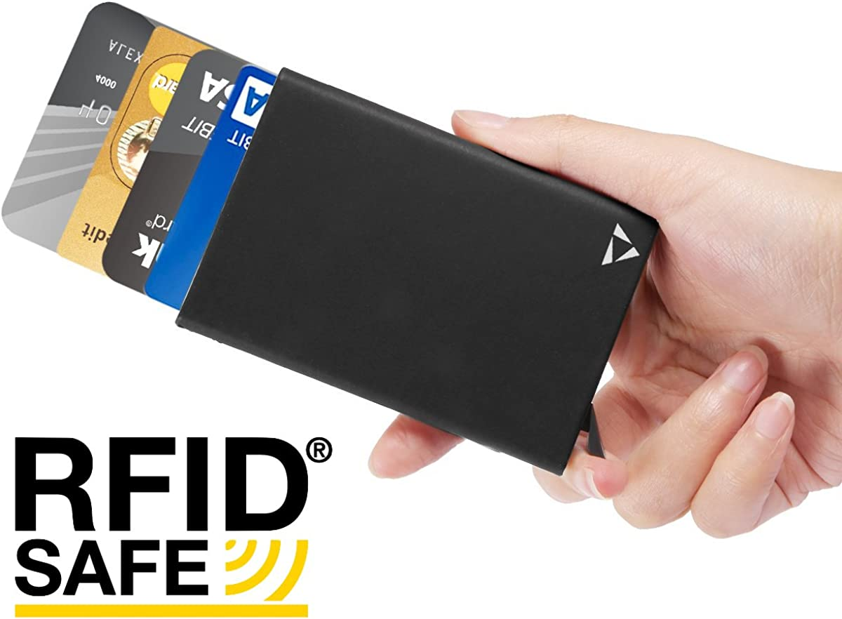 RFID Blocking Aluminium Credit Card Holder With complimentary a money clip and luxurious gift box Ultimate Slim Wallet